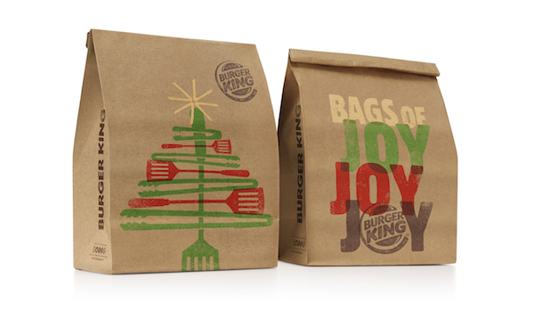 packaging burger king navidad
